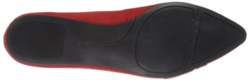 Flat Pointed Suede Women's Red West Toe Seeya Nine TwqIYxAT
