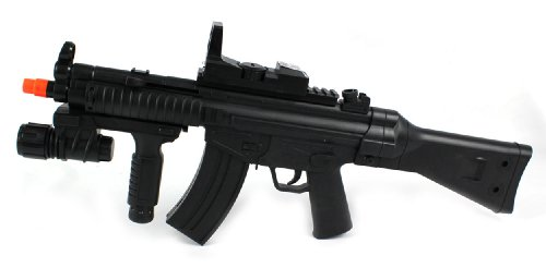 ukarms p1095 mk5 spring airsoft gun fps-180 w/ aiming sight, tactical flashlight, silencer(Airsoft Gun)
