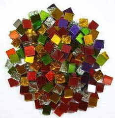 - Jennifer's Mosaics 8-Ounce Variety Mosaic Mirror Tile, Assorted Colors