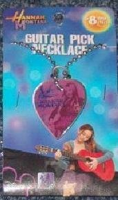Hannah Montana Guitar Pick Necklace Purple
