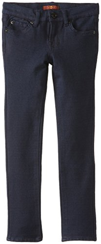 7 For All Mankind Big Girls' The Skinny Double Knit Pant, Indigo, (Double Knit Skinny Pants)