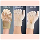 """Exercise Gloves - NEW Deluxe Traction Exercise Glove with Thumb, Left, Small/Medium (2 1/2""""-3 1/2""""). by Sammons Preston"""
