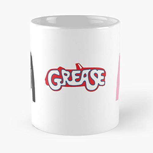 (T Birds Pink Ladies Grease Greasers Ceramic Coffee Mugs 11 Oz - Funny Best)