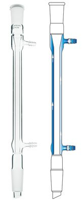Chemglass CG-1220-23 Series CG-1220 West Condenser, 19/22 Joint, 110 mm Jacket Length, 200 mm Height by Chemglass