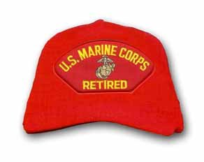 MilitaryBest U.S. Marine Corps Retired with EGA Red Ball Cap