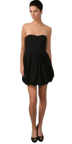 Strapless Bubble Hem Dress - Joie Taurus Strapless Bubble Hem Dress, Caviar, Size Medium