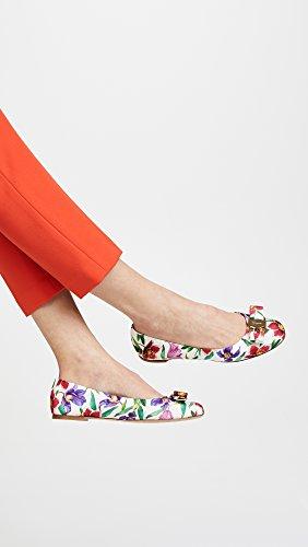 Salvatore Ferragamo Kvinders Varina Flats Hvid / Flerfarvet PRwOsc7cr