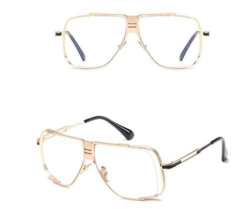 la Marcos de los de de Las los señoras de Gafas los los la Marcos Vendimia de vidrios Hombres Sol Sol de Manera Gafas de de de Claro Claro Las de Sol de Color Metal Gafas del vSq0RwfqP