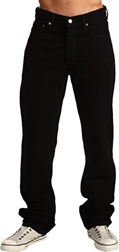(Levi's  Big & Tall Men's Big & Tall 550 Relaxed Fit Black Jeans 52 X)