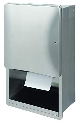 Bradley 2A01-1000 Paper Towel Dispenser Manual SEMI RECESSED Diplomat