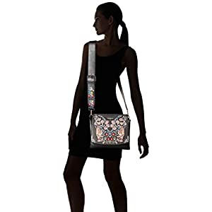 Desigual Bols_eden Amberes – Borse a tracolla Donna, Nero (Negro), 15x30x31 cm (B x H T)