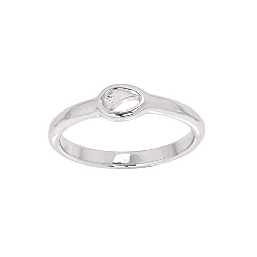 Kameleon Jewelry Ice925 Matte Swoop in a Oval Ring Size 7