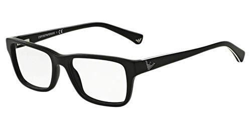 Emporio Armani Glasses Frames - Emporio Armani EA3057 Eyeglass Frames 5364 - Matte Black 52mm