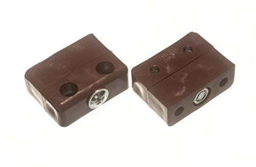 Bulk Hardware BH01818 Knockdown Furniture Connector Jointing Block Fittings - Brown, Pack of 20