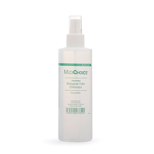 MediChoice Biological Odor Eliminator, Unscented, Pump Spray, 8 Oz, 1314OE8121 (Case of 12)