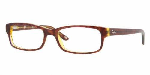Ray Ban Optical Montures de lunettes RX5187 Pour Homme Shiny black, 50mm 2443: Tortoise / Blue-Yellow