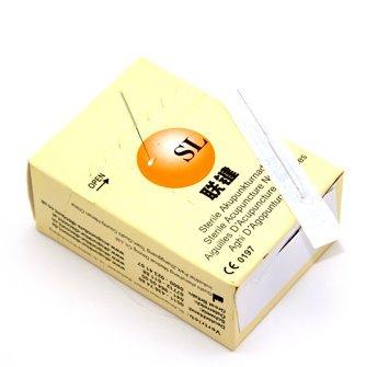 Akupunkturnadeln SL 100 Stück Acupuncture 0,30 mm x 25 mm mit Führrohr mit Silbergriff