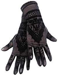 HENNA GLOVES - Gothic Mesh Gloves with Mehndi Patterning by Restyle Clothing (Image #1)