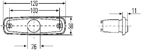 HELLA 2PS 964 295-061 Feu lat/éral Couleur du voyant: jaune LED C/âble: 500mm Endroit dassemblage: gauche//droite 12V Montage en saillie