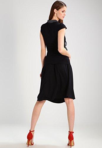 Anna Field Midi Jupe Rock Femme Noir, genoux et élégant, Midi Rock a ligne Jersey Stretch, Taille Rock avec Cave Rides, Rock Taille Haute