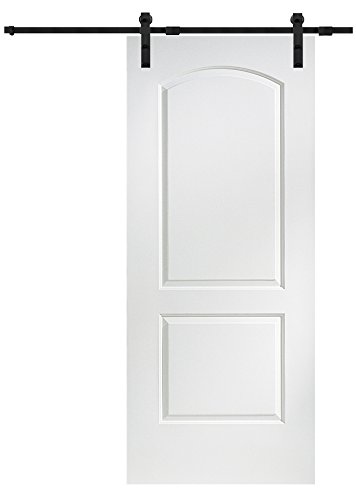 National Door Z020216 Solid Core Molded 2-Panel Archtop, Primed, 36'' x 84'', Barn Door Unit , 84'' Height, 36'' width, Mdf by National Door Company