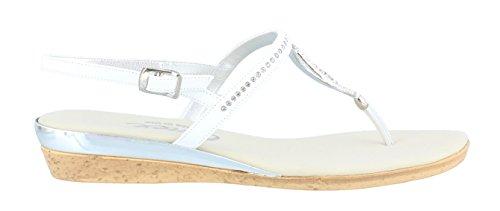 White Sandal Low Onex Silver Heel Rolo Women's pw1qFaWzfx