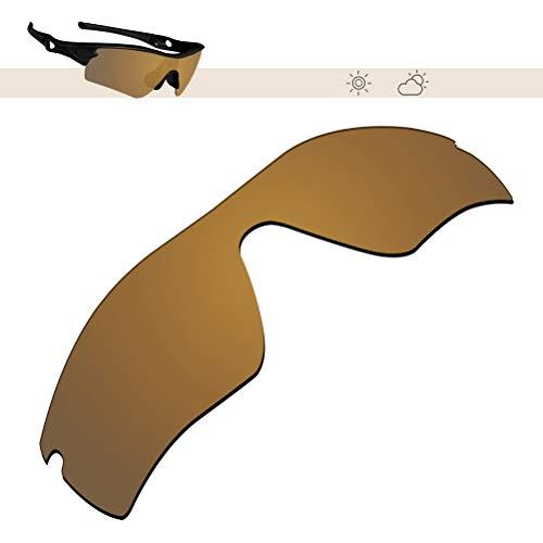 Glintbay 100% Precise-Fit Replacement Sunglass Lenses for Oakley Radar Path - Polarized Bronze Gold Mirror ()