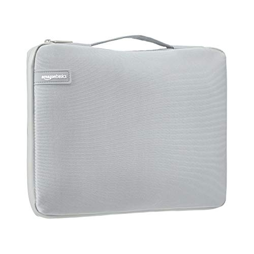 AmazonBasics 13.3″ Professional Laptop Sleeve (with Retractable Handle) – Grey