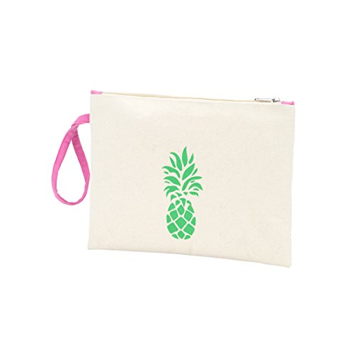 Monogrammed Personalized Personalized Be Can Pouch Palm Coast Zip Canvas Pineapple x8wR0Hgqp