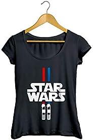 Camiseta Baby Look Sabre de Luz Feminino Preto