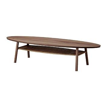 Ikea Stockholm Couchtisch Nussbaum Furniert 180x59 Cm Amazonde