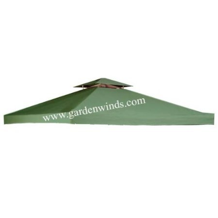 Amazon.com : Garden Winds Universal GREEN 10u0027 X 10u0027 Two Tiered Replacement  Gazebo Canopy : Garden U0026 Outdoor
