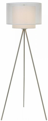 Trend Lighting Brella Tripod Floor Lamp, Brushed Steel ()