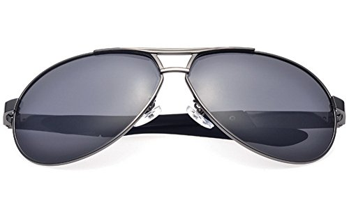 Aviator Sunglasses Polarized for Men Women with Sunglasses Case - UV 400-A193-Black Lens