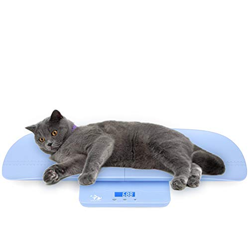 ONETWOTHREE Digital Pet Scale to Measure Dog and Cat with 3 Weighing Modes(kg/oz/lb), 220 Pound (lbs) Capacity with Precision of 0.35OZ,3Colors3Sizes(White 23.6,Blue 27.5,Black 25.6 17.7inch)