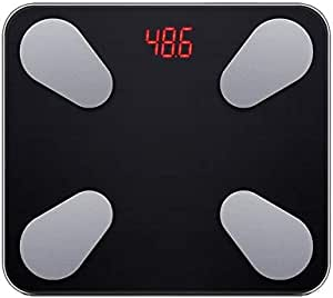 Weight Scale Digital Bluetooth Weight Smart Scale Body Fat Scales with Fitness APP & Body Composition Monitor & Large Display for Home Bathroom Office (Battery Operated, Black)