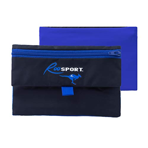 RooSportPLUS Magnetic Running Pouch - Magnet Pocket Pouches for Cell Phone, iPhone & Keys - Beltless Runners Waist Bag for Running, Jogging & Cycling - Dont Confuse with Running Buddy XL