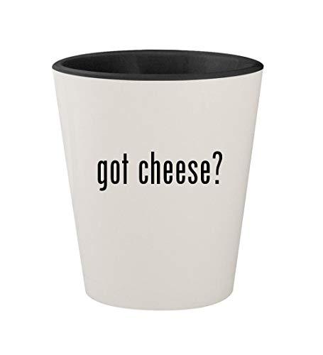 got cheese? - Ceramic White Outer & Black Inner 1.5oz Shot Glass ()