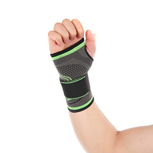 HipStone High Elastic Bandage Fitness Yoga Wrist Palm Support Compression Recovery Wrist Sleeve Powerlifting Gym Palm Pad Protector (M)
