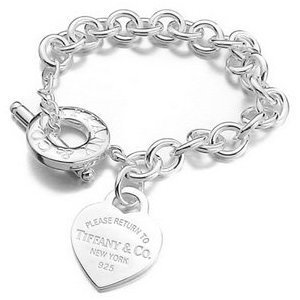 3d8e2d820 Tiffany & co style heart tag bracelet: Amazon.co.uk: Jewellery