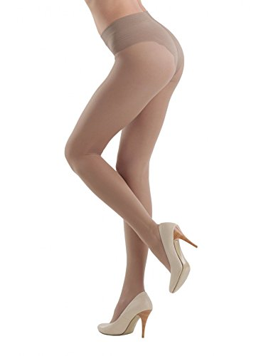 Conte Womens 40 Denier Nude Shaping Compression Pantyhose Tights - Style
