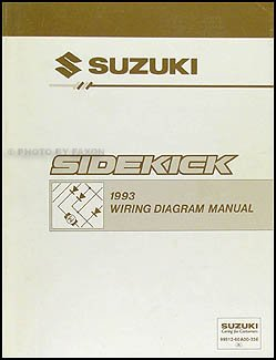 1993 suzuki sidekick 1600 and sport 1800 x 90 wiring diagram manual rh amazon com miller sidekick wiring diagram 1996 suzuki sidekick wiring diagram