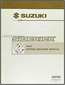 1993 Suzuki Sidekick 1600 And Sport 1800 X 90 Wiring Diagram Manual Suzuki Amazon Com Books