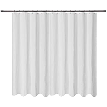 Extra Wide Fabric Shower Curtain 108 X 72 Inch