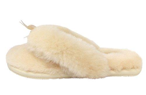 UGG Australia Fluff Flip Flop - - Mujer Beige (Natural)