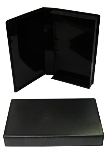 5 Empty Standard Black Replacement Black VHS Boxes With Out Center Hubs #VHBR30BK (Cases, Tapes, Clamshell, Clam Shell) ()