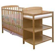 dream on me 2 in 1 full size crib and changing table combo natural baby. Black Bedroom Furniture Sets. Home Design Ideas
