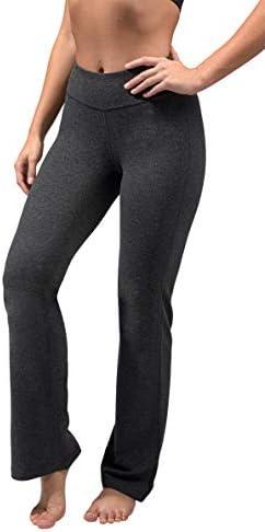 90 Degree By Reflex - Cotton Boot Cut Yoga Pants for Women