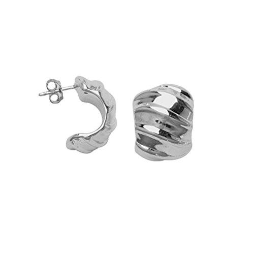 Wide Hoop Earrings Artform Designer Collection Sterling Silver Nontarnish