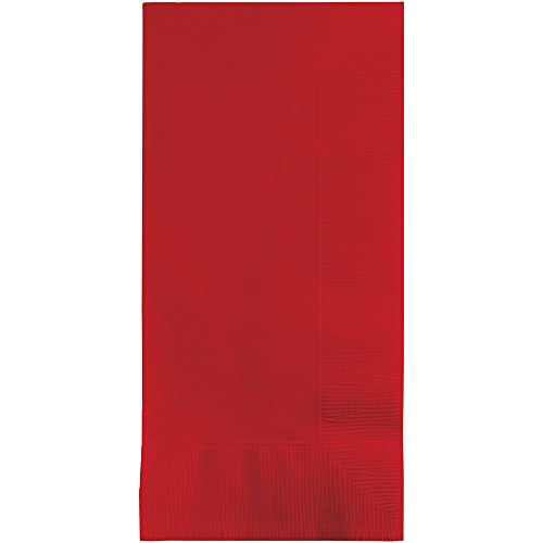 Creative Converting Touch of Color 100 Count 2-Ply Paper Dinner Napkins, Classic Red